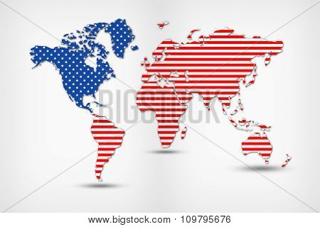 Abstract world map isolated