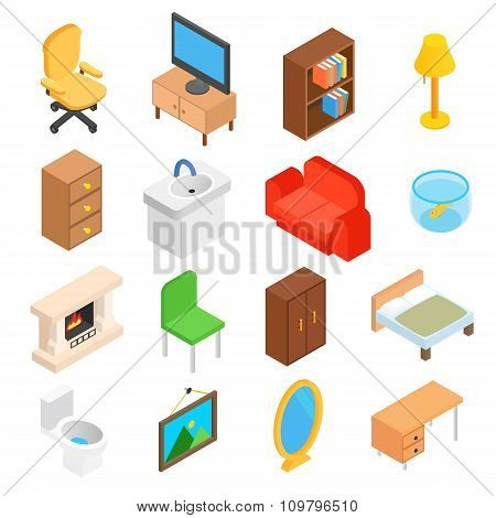 Furniture for living room isometric