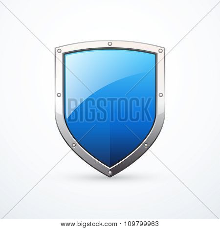 White and blue shield.