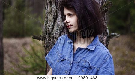 Pretty lonely girl Forest