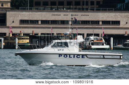 Sydney police boat