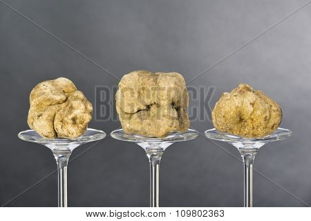 Still Life Of A Truffles On A Black Background