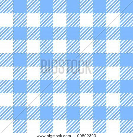 Tablecloth In Blue With Checkered Design