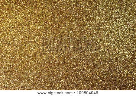 Background Golden Sparkly Glittery Panel