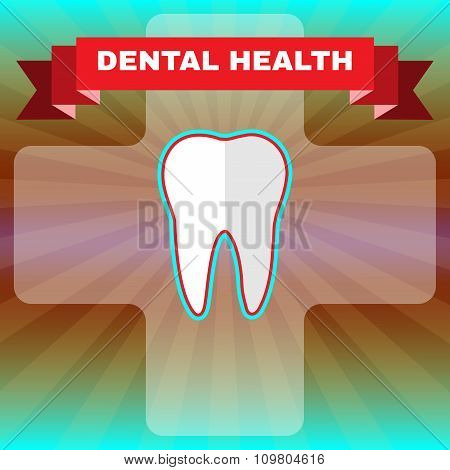 Dental Health Vector Flyer Illustration