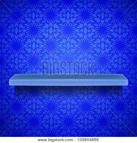 Emty Blue Shelf