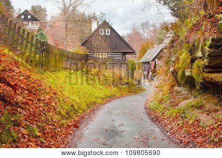 Cottages In The Autumnal Village 'karba'
