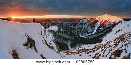 Sunrise In Mountain - Slovakia Fatra