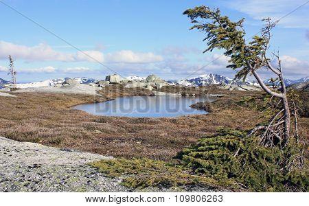 Tranquil Mountain Landscape.