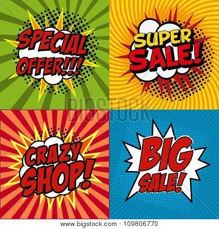 Crazy Shop Poster set
