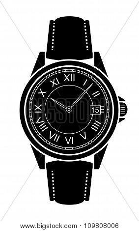 Classic luxury mechanic business style hand watches. Black