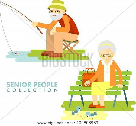 Social concept - old people hobby activity