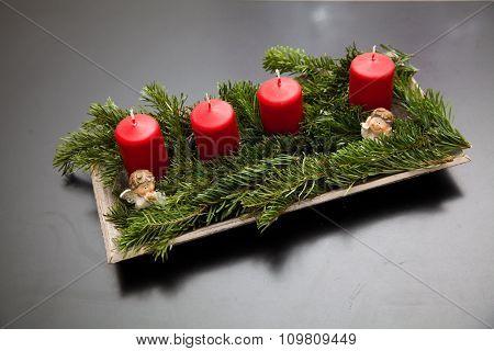 Unlit Advent Candles