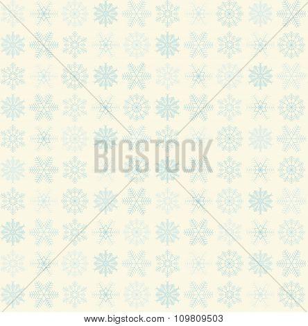 Seamless Snowflake Background