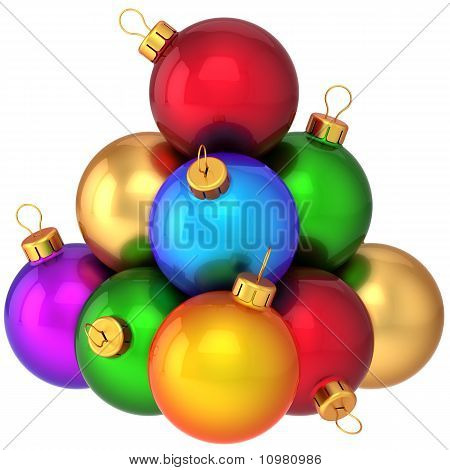 Christmas baubles multicolored