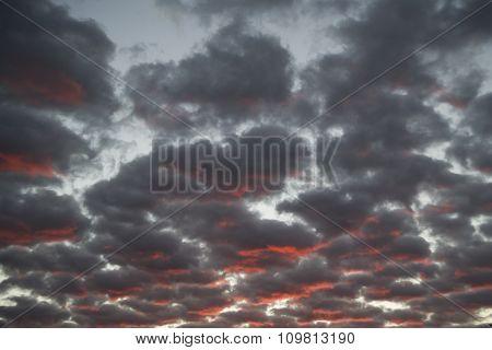 Cloudy Sky At Dawn