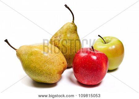 Ripe Juicy Fruit Isolated On White Background.