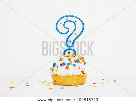 birthday candle in cupcake