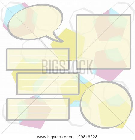 Vector Infographics dialogs chat delicate flowers. Geometric pattern for online business education