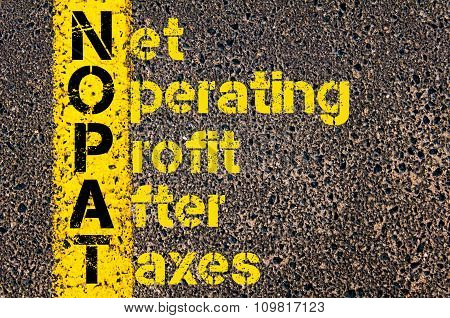 Business Acronym Nopat As Net Operating Profit After Taxes