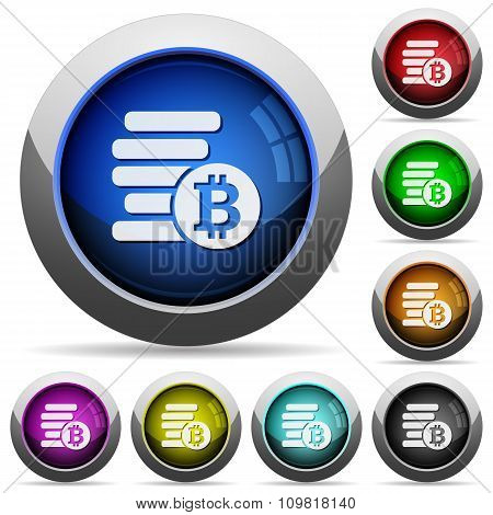 Bitcoins Button Set