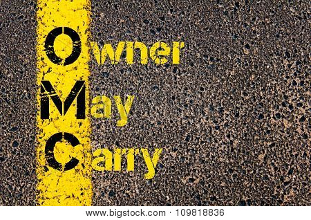 Accounting Business Acronym Omc Owner May Carry