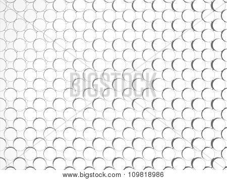 Abstract Illustration of white circles with shading