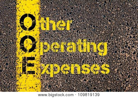 Accounting Business Acronym Ooe Other Operating Expenses