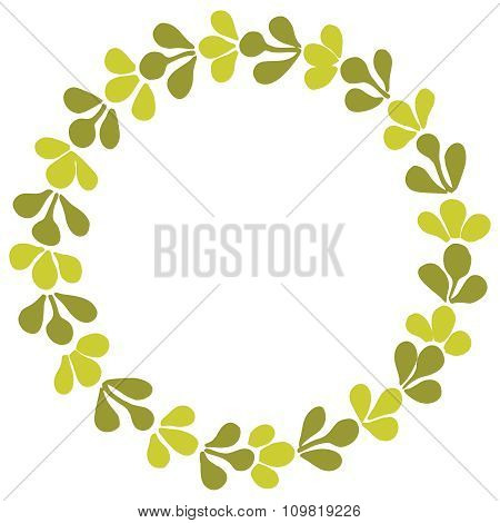 Laurel wreath decorative vector frame on white background
