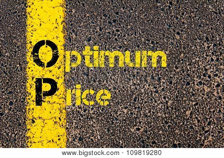 Accounting Business Acronym Op Optimum Price