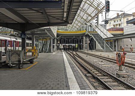 Train Station in Chur, Switzerland