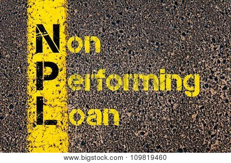 Business Acronym Npl As Non Performing Loan