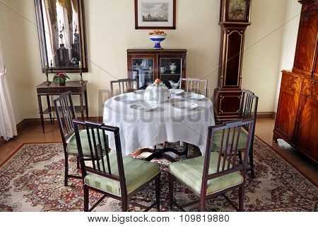 Dining Room Manor House In The Family Estate Of Lermontov Tarkhany