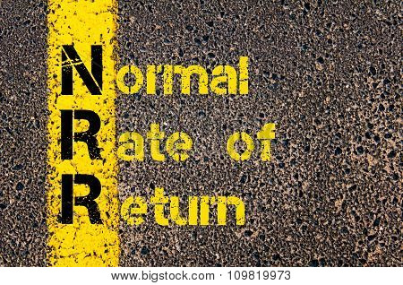 Business Acronym Nrr As Normal Rate Of Return