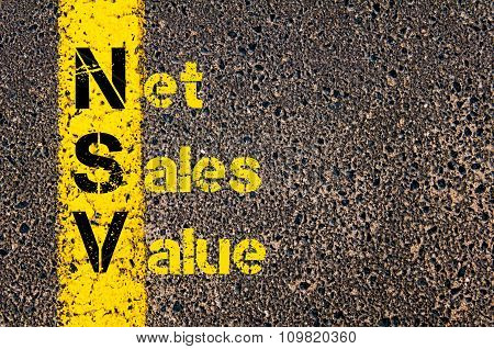 Accounting Business Acronym Nsv Net Sales Value