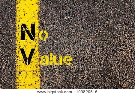 Accounting Business Acronym Nv No Value