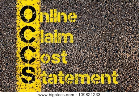 Accounting Business Acronym Occs Online Claim Cost Statement