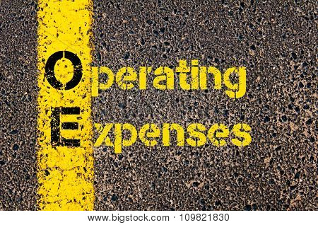 Accounting Business Acronym Oe Operating Expenses
