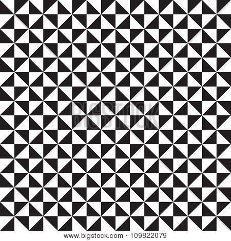 Geomatric Triangle Black And White Pattern