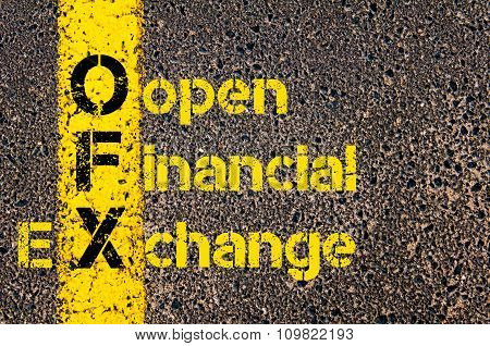 Accounting Business Acronym Ofx Open Financial Exchange