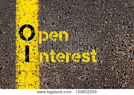 Accounting Business Acronym Oi Open Interest