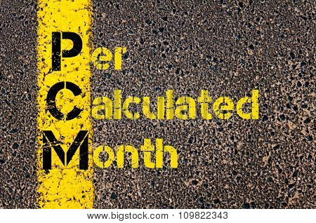 Accounting Business Acronym Pcm Per Calculated Month