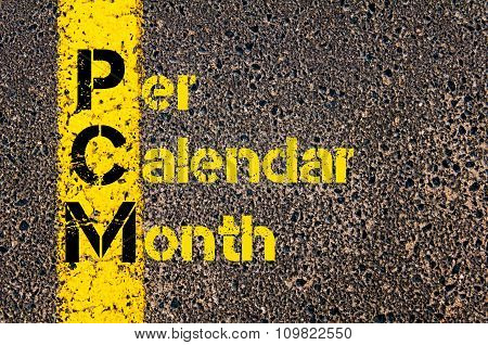 Accounting Business Acronym Pcm Per Calendar Month