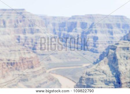 Defocused Background Of Grand Canyon, Arizona
