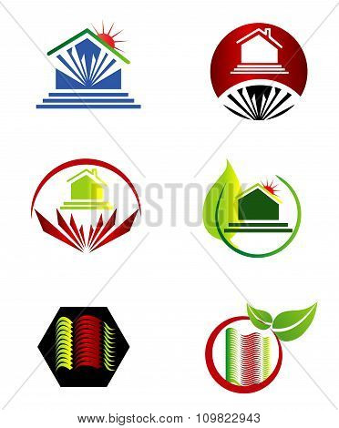 Real estate logo set icon vector template