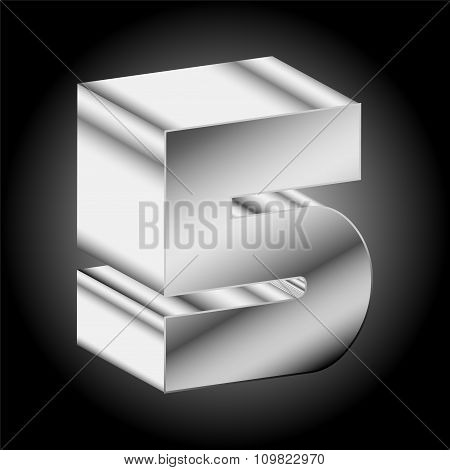 3d Metal silver Two 5 Vector