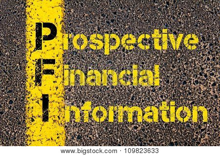 Accounting Business Acronym Pfi Prospective Financial Information