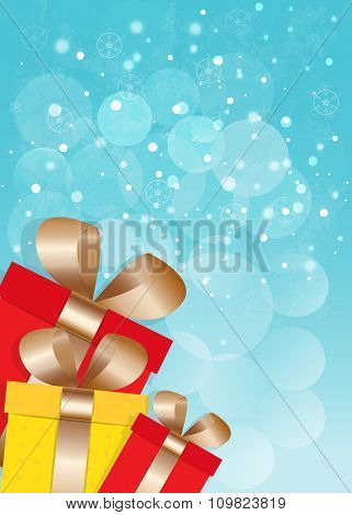 New Year And Cristmas Card.vector Eps10.