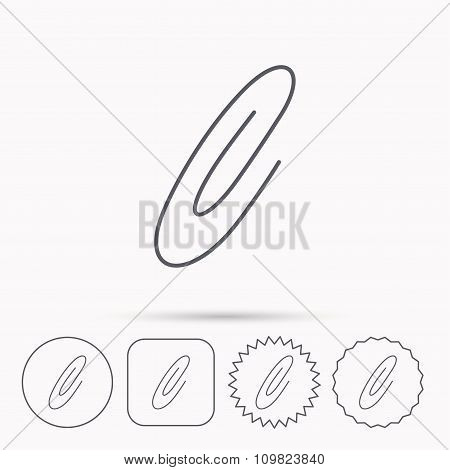 Safety pin icon. Paperclip sign.