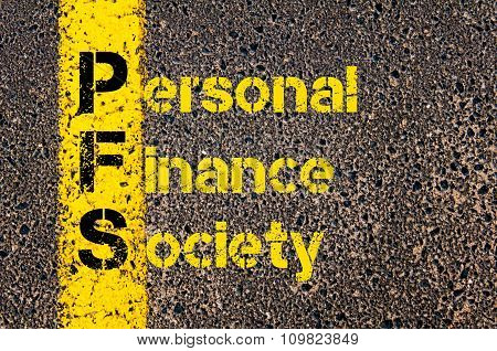 Accounting Business Acronym Pfs Personal Finance Society